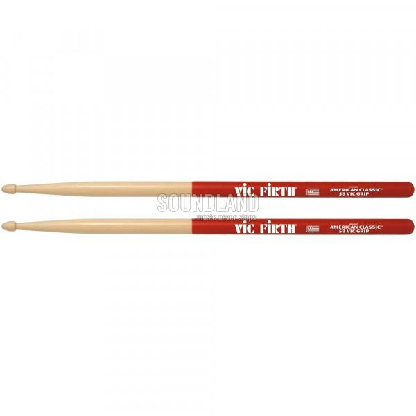 Vic Firth 5BVG Hickory VicGrip Drumsticks