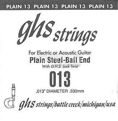 GHS Einzelsaite 013 plain