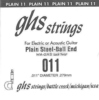 GHS Einzelsaite 011 plain