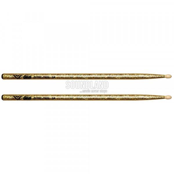 Vater VCG5A Color Wrap 5A Gold Sparkle Drumsticks