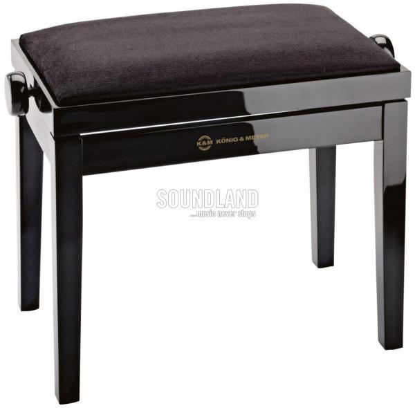 K&M Klavierbank 13901 schwarz poliert