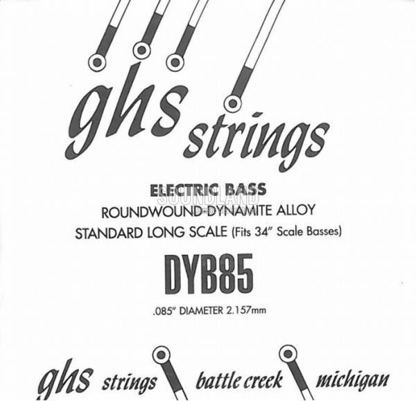 GHS Bass Einzelsaite 085