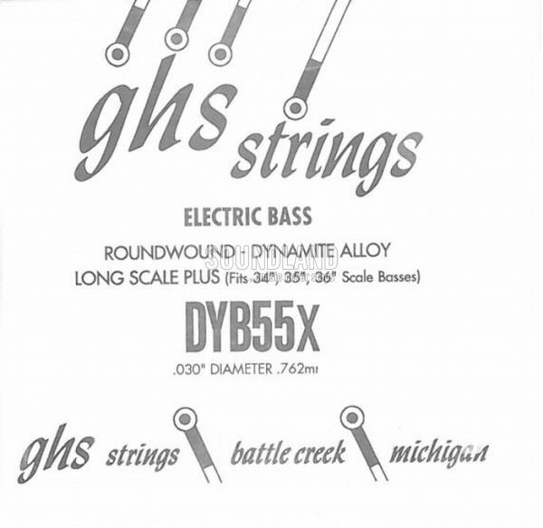 GHS Bass Einzelsaite 055
