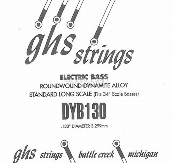 GHS Bass Einzelsaite 130