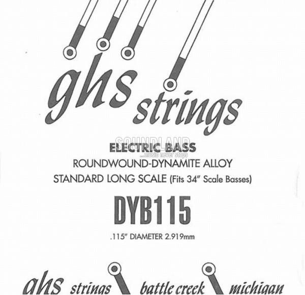 GHS Bass Einzelsaite 115