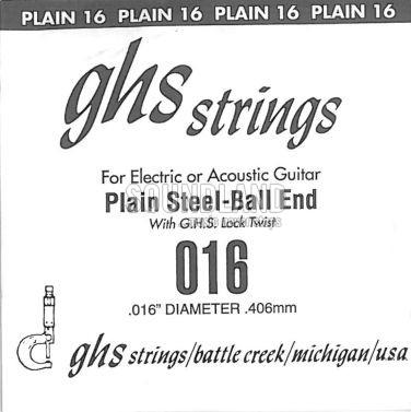 GHS Einzelsaite 016 plain