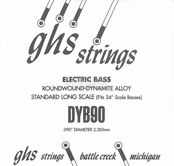 GHS Bass Einzelsaite 090