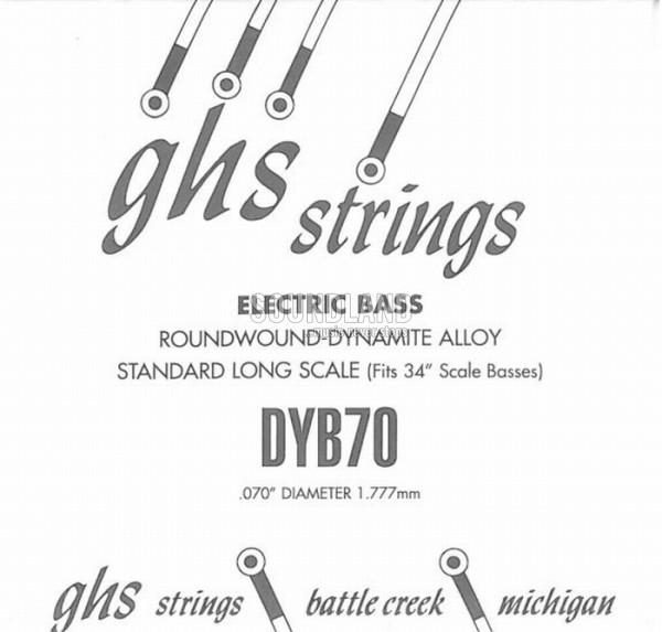 GHS Bass Einzelsaite 070