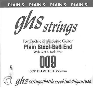 GHS Einzelsaite 009 plain